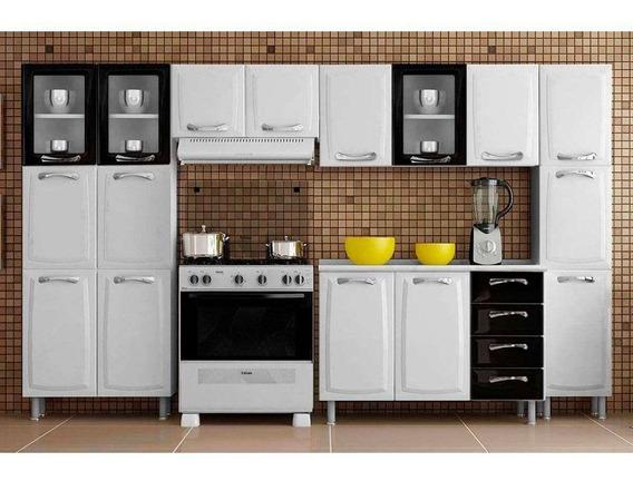 Cozinha Itatiaia Itanew Aço 5 Peças Z45 Branco/preto