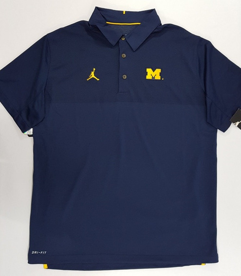 Playera Tipo Polo Jordan Michigan Wolverines Talla S