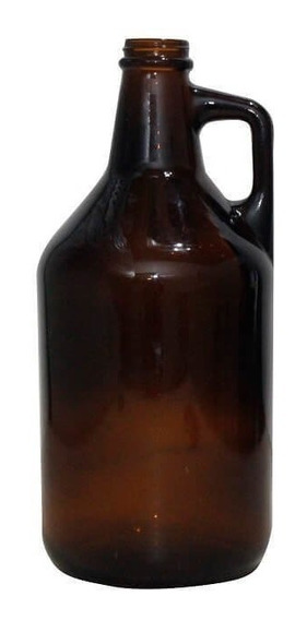 6 Botellones Growler Ambar Cerveza C Tapa 1.9 Lts Pack