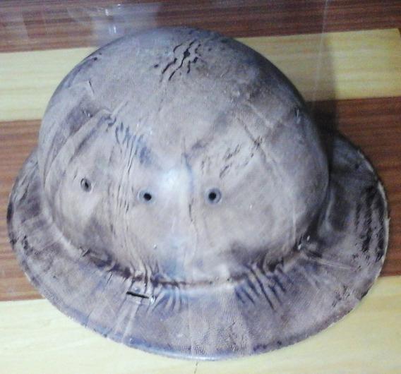 Casco O Sombrero De Guardaparque Camuflado Material Plastico