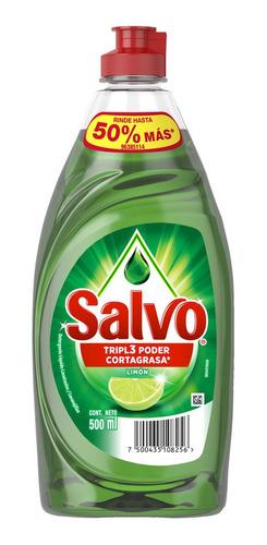 Lavaplatos Líquido Salvo Limón 500 Ml - mL a $14