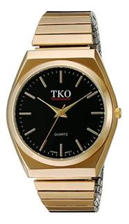 Tko Reloj De Oro Negro Banda Expansión Estuche