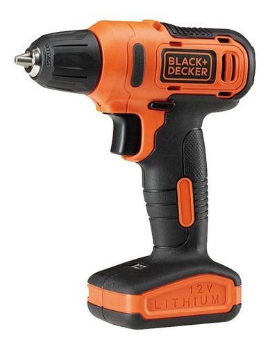 Imagen 1 de 4 de Taladro eléctrico  destornillador Black+Decker LD12S inalámbrico 900rpm naranja 110V/220V 12V