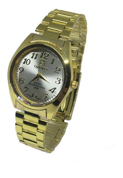 Relógio Feminino Dourado Orimet Resistente Barato.