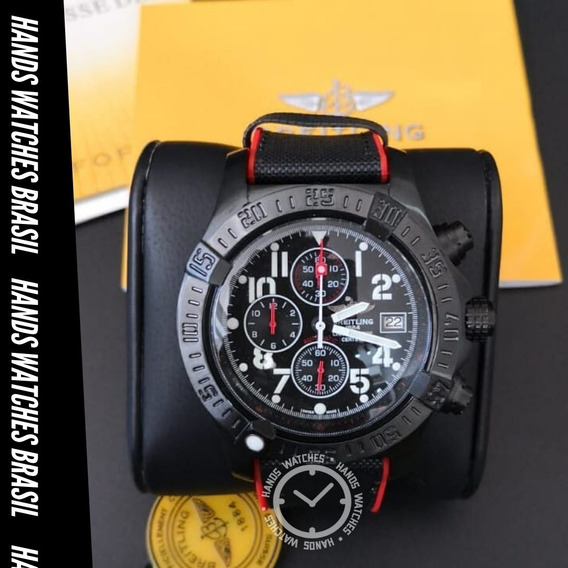 Relógio De Luxo Red Black Dial