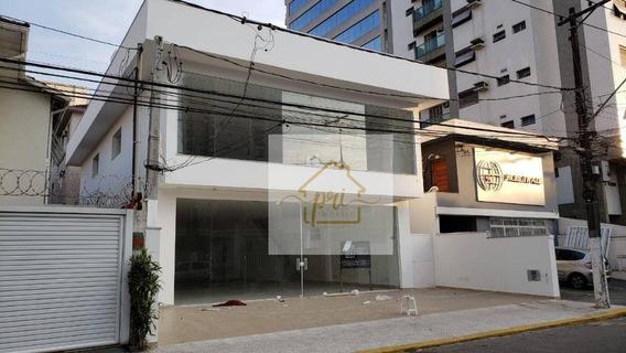 Loja Para Alugar, 390 M² Por R$ 20.000,00/mês - Gonzaga - Santos/sp - Lo0021