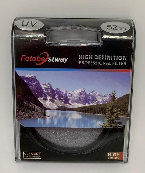 Filtro Proteção Uv 52mm Fotobestway Câmera Fotográfica