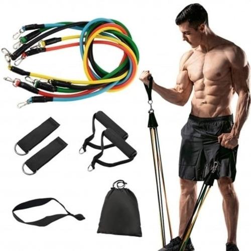 Imagen 1 de 5 de Kit Bandas De Resistencia Gym Fitness Portátiles
