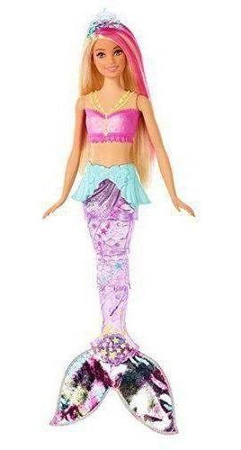 Boneca Barbie Sereia Brilhante Dreamtopia Luzes E Arco-iris