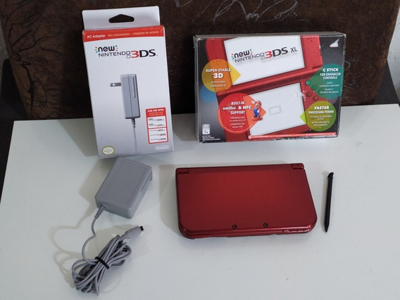 New Nintendo 3ds Xl Completo + 32gb Com Muitos Jogos