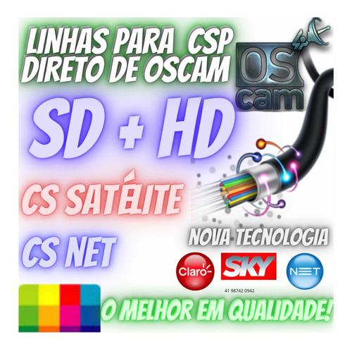 Imagem 1 de 1 de Linhas Cs Hd Satélite E Net - Montamos Painel  E Csp Seguros