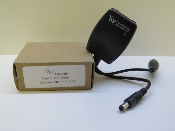 Transmissor Essential 300m Rabicho Bnc + P4/rj45 12v.