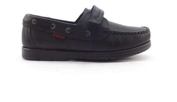 Zapatos Nauticos Colegial Escolar Marcel Cuero Abrojo 27-33