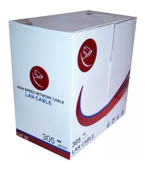 Bobina Cable De Red Utp Cat5e 305mts Cctv Lan 24awg Verified