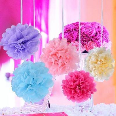Flores De Papel Para Eventos 24 Cm