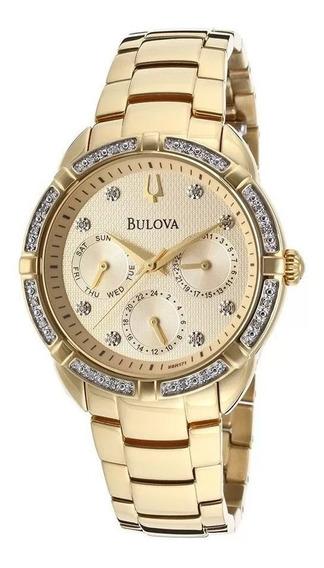 Relógio Feminino Bulova Diamond Wb27734x