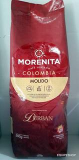 Café Colombia Morenita Durban Molido Sin Azúcar X 500 Gr
