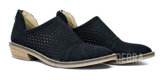 Zapatos Mujer Chatitas Caladas Texanas Livianas Moda Media Estacion 40