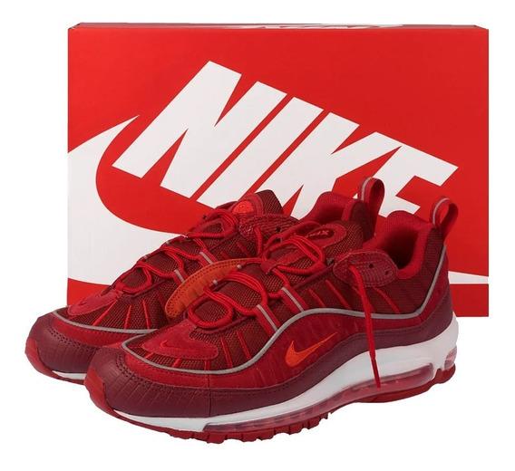Tênis Nike Air Max 98 Se Team Red Gym Sneaker Retro