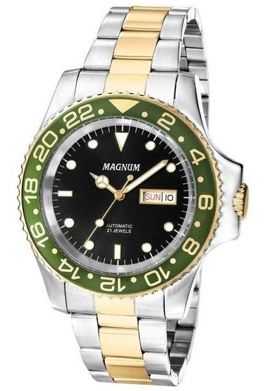 Relógio Masculino Automático Magnum Ma33844p Calendário