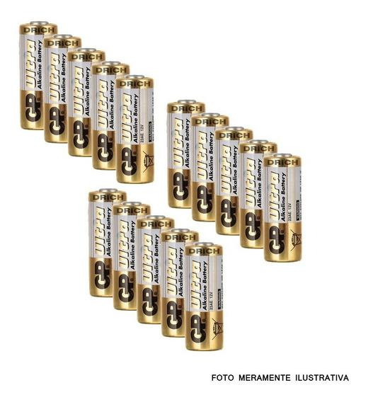 Bateria Pilha A23 Controle Remoto Portão Alarme 15 Unidades