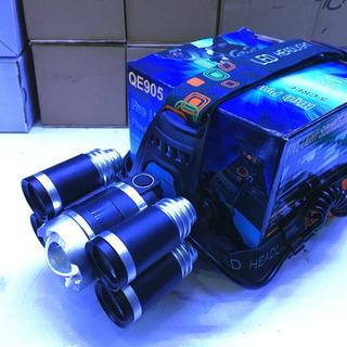 5x Xml T6 Led Recarregável Cabeça Tocha Farol Luz Super Bril
