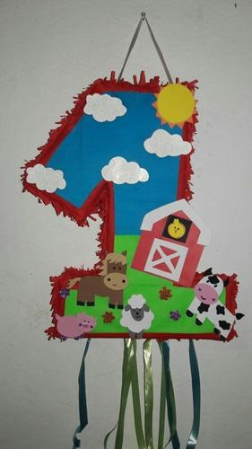 Piñata Artesanal Numero 1 De Granja