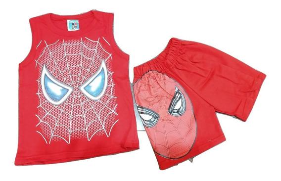 Conjunto Musculosa Mas Short Spiderman Hombre Araña