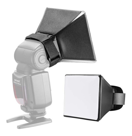 Difusor Mini Softbox P/ Flash Speedlite 13x10cm - Yuer