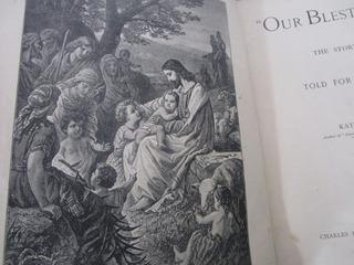 Año 1898 Historias Vida Cristo Ilustrada Libro Muy Antiguo