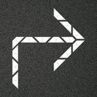 Kit Flecha Simple Curva 90 Derecha - Placa