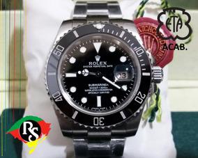 Relógio Rolex Submariner Preto Cerâmica Safira + 50 Modelos