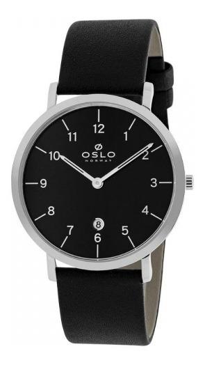 Relógio Oslo Masculino Slim Ombscs9u0001 Preto