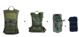 Mochila Hidratação + Bolsa De Água 2 Litros Térmica + Brinde