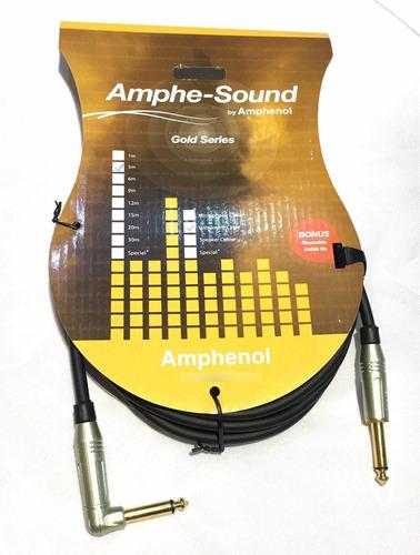 Imagen 1 de 4 de Cable Instrumentos Amphenol Gold Series Gd3034 6mts Plug Oro