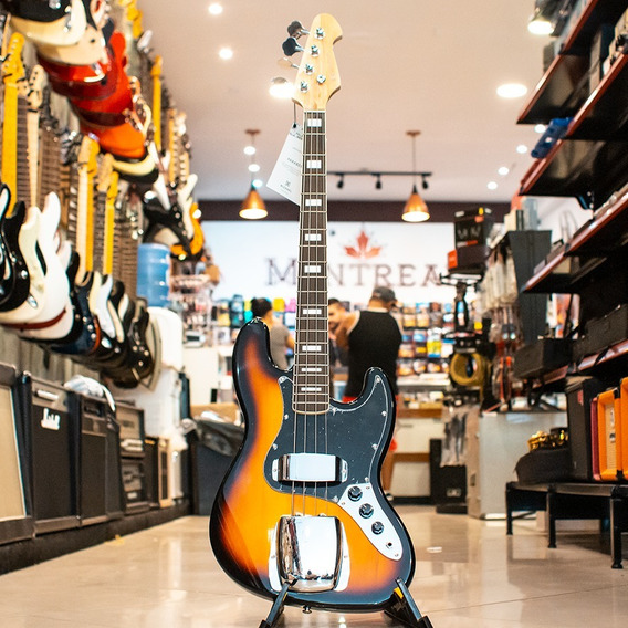 Baixo Michael Bm675 Sunburst Black 4c Passivo Jazz Bass