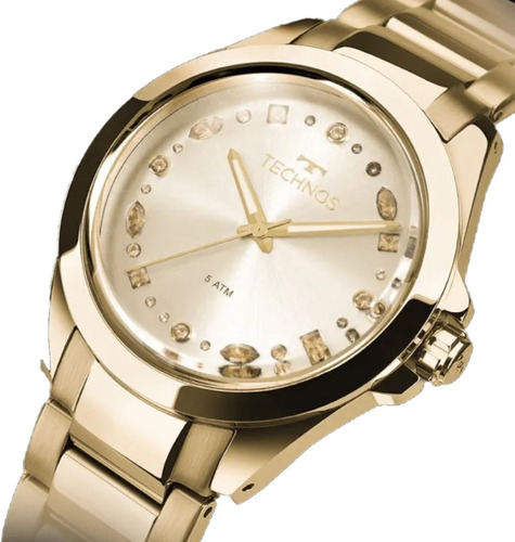Relógio Feminino Technos Dourado Elegance 203aaa/4d