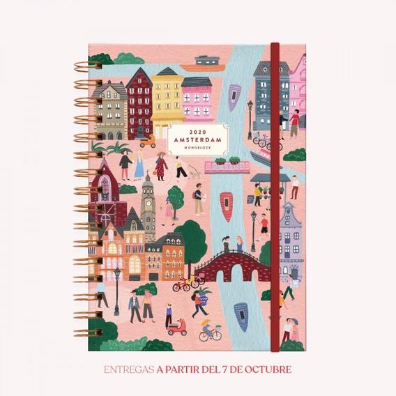 Agenda 2020 De Viaje Amsterdam - A5 Semana - A5 Monoblock
