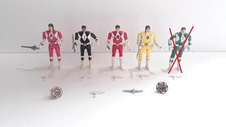 Lote De 4 Power Rangers Con Sus Armas Y Accesorios