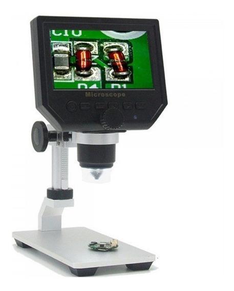 Microscópio Digital Portátil Hd Lcd 4.3 1-600x 1x A 600x