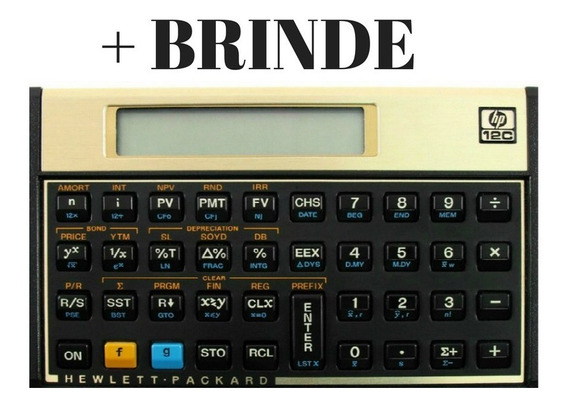 Calculadora Financeira Hp 12c Gold Original + Brinde