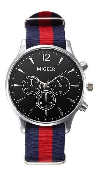 Reloj Migeer Modelo Cloth Nuevo Original Casual Elegante