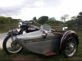 Pieza De Colección - Moto Clásica Triumph T100 Modelo 1953