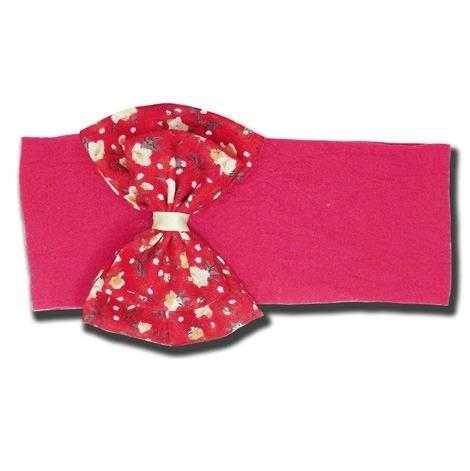 Faixa De Bebê Meia De Seda Rose E Vermelha Laço Grande