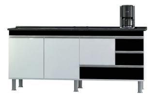 Gabinete Cozinha Luxo 1.50m - Puxador Alumínio