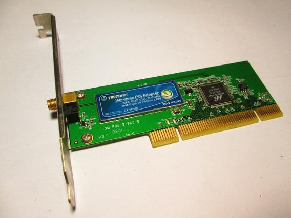 Placa Rede Wireless Trendnet 54mbps Pci Tew 423pi S/antena