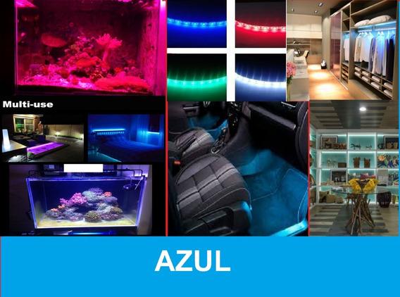 1 Fita Led Carro Moveis Aquario 1,5m 12v Azul Fonte 110/220v