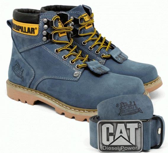 Kit Bota Caterpillar Second Shift Boot + Cinto Couro + Frete