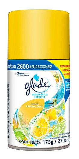 Glade Automatico Limón Repuesto 1 Repuesto De 175 G