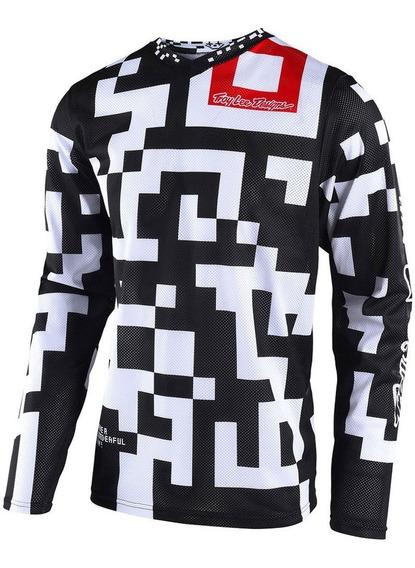 Remera Cross Troy Lee Gp Air Maze Blanco Negro